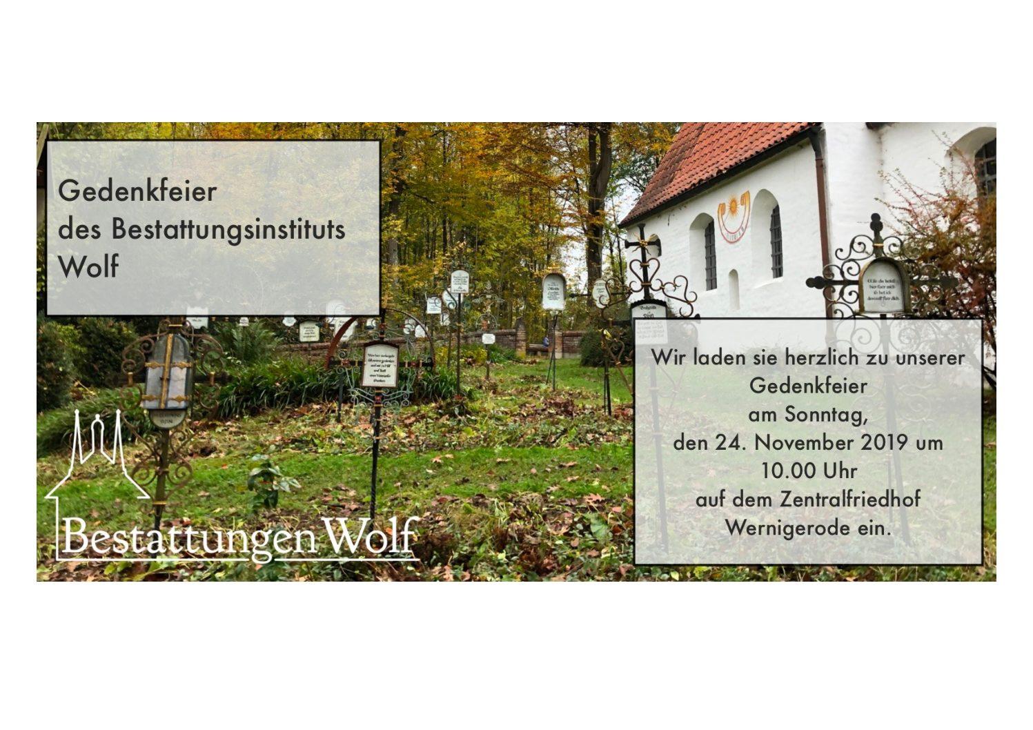 Gedenkfeier Zentralfriedhof Wernigerode